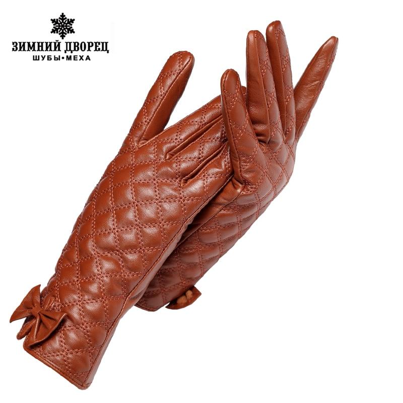 Cold winter ladies gloves,Genuine Leather,Adult,Warm Cotton