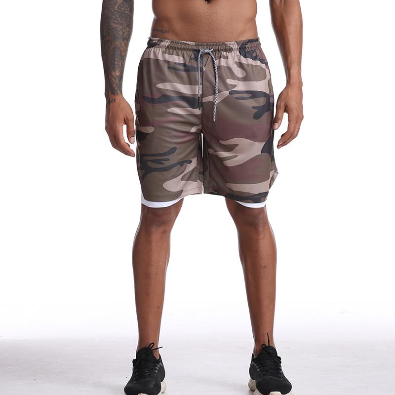 musculação respirável shorts de compressão de secagem rápida