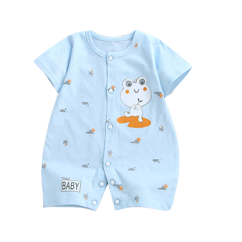 Hot!baby Girl Romper Summer Cute Cartoon Kids Clothes Pure Cotton Jumpsuit New Born Clothes Climb Cltohing For Boys Baby Rompers