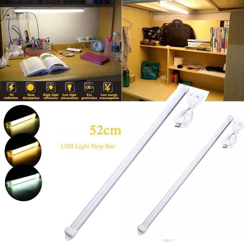 Smuxi 52 см USB жесткий светодиодный стержень огни Портативный Жесткая светодиодная лента лампа с выключателем ночное школьная настольная подставка для ноутбука осветительная лампа