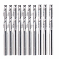 50x Solid Carbide Double Two Flute Spiral Cutter 3.175x17mm CNC Router Bits