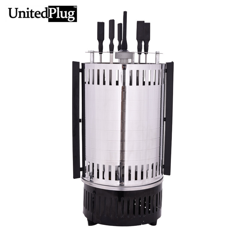 UnitedPlug electric grill indoor outdoor rotating bbq grill stainless steel infrared indoor grill electric barbeque grill BBQ-02 barbecue stainless steel bbq grill cleaning brush churrasco grill outdoor cleaner abs stainless steel bristles material