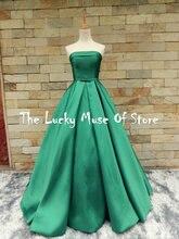 Real Photos Vestidos de Fiesta Green font b Prom b font font b Dresses b font