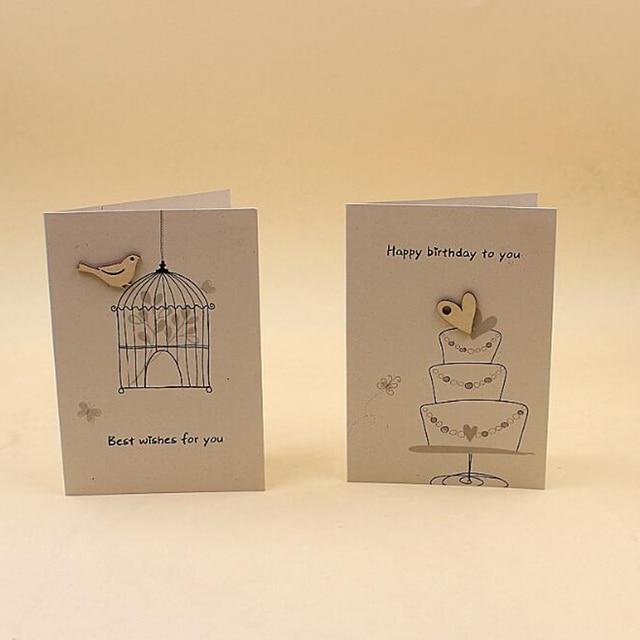 18 Pieceslotfree Shipping Vintage Kraft Paper Card Cute Birthday