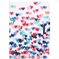 """Colorful heart pattern Leather Flip Case for Apple iPad air1 2 with iPad mini2 3 4 iPad 2 3 4 pro 12.9""""case stand Free Shipping"""