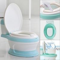 Baby Potty Toilet Bowl Cute Cartoon Training Pan Toilet Seat Children Bedpan Portable Urinal Comfortable Backrest Pot