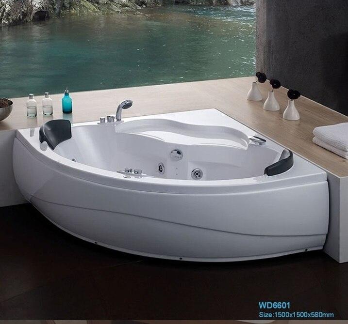 Wall corner Fiber glass Acrylic whirlpool bathtub Triangular Hydromassage Tub Nozzles Spary jets spa RS6601 lx h30 rs1 3kw hot tub spa bathtub heater