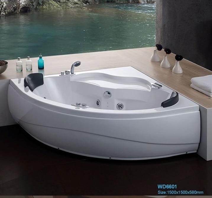 wand ecke glasfaser acryl whirlpool badewanne dreieckige hydromassage badewanne d sen spary jets. Black Bedroom Furniture Sets. Home Design Ideas
