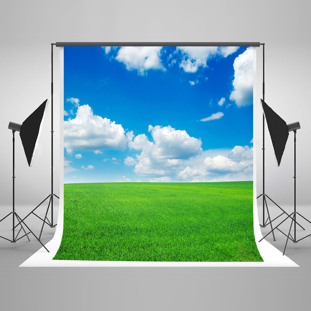 Kate 200x300cm (6.5x10ft)Children Blue Sky Fotografia Profissional Grassland Backdrop For Photo Shoot Washable Photo Background kate natural scenery backdrop blue sky