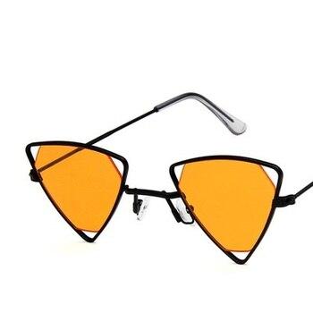 Yoovos 2019 New Punk Sunglasses Women Triangle Oculos New Vintage Glasses Openwork Metal Frame Fashion Sun Glasses Men Okulary 11