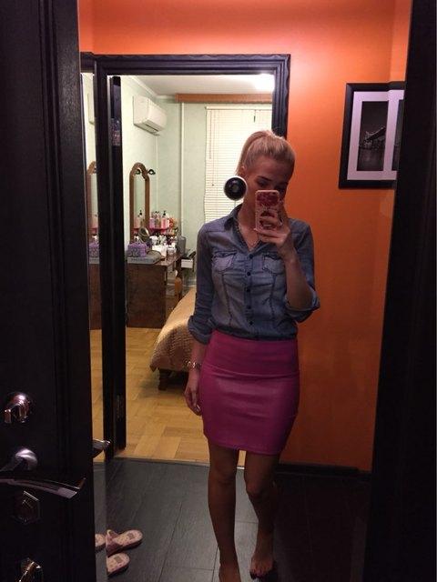 2018 spring autumn Fashion Women Skirts PU faux leather skirts tight stretch female short pencil mini skirt saias femininas 10