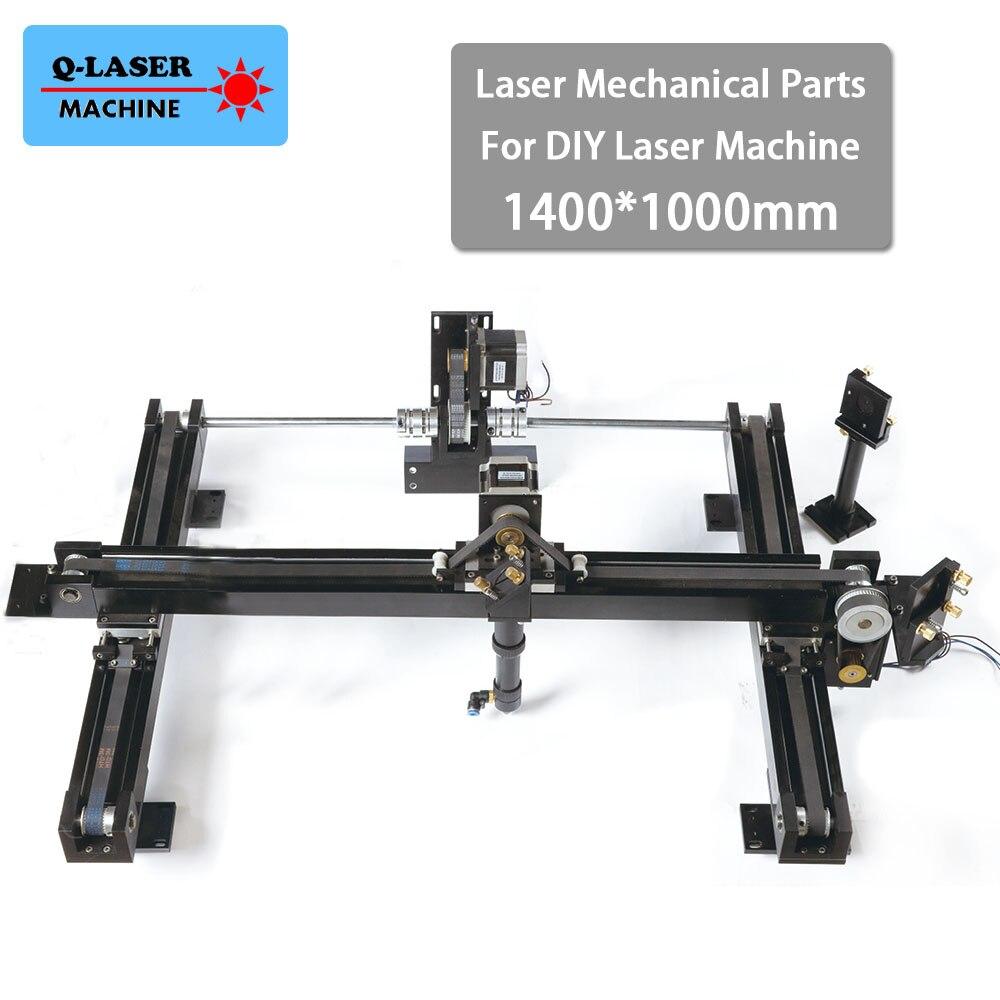 DIY Co2 Laser Engraving Cutter Parts Set 1400*1000mm Size Mechanical Laser Spare Parts Kit whole set co2 laser cutter parts laser mechanical components diy co2 laser with 2 laser heads
