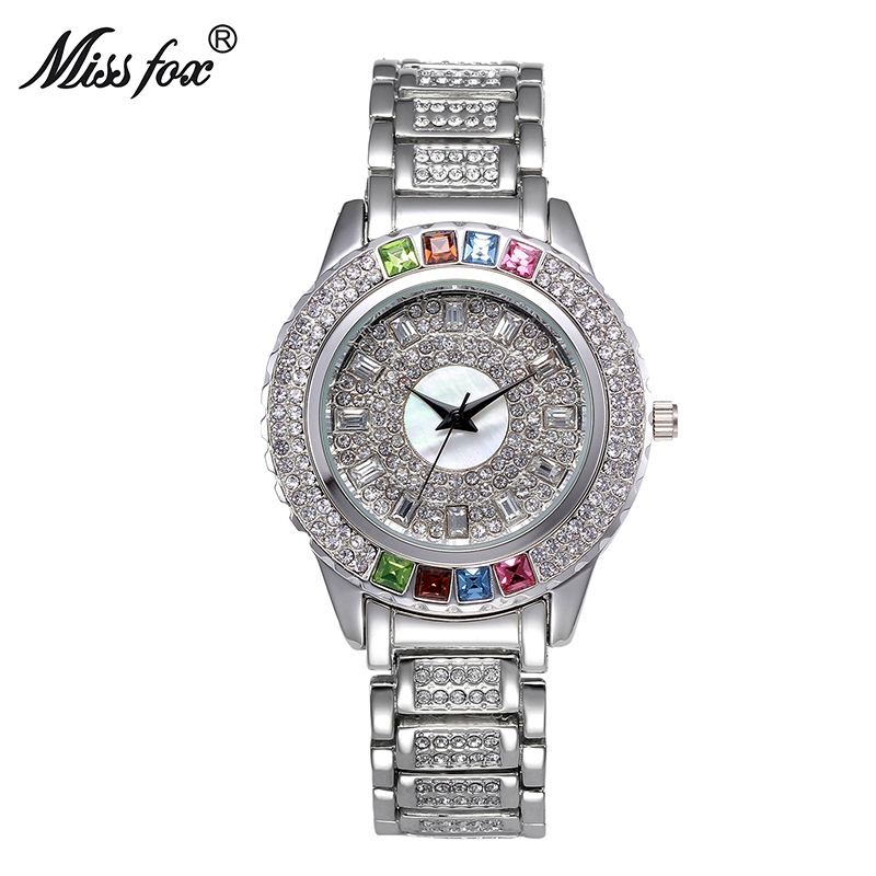 Miss Fox Ladies Designer Watches Luxury Watch Women 2017 Colorful Watch With Crystals Diamond Gold And Silver Watch Women Store mance ladies brand designer watches