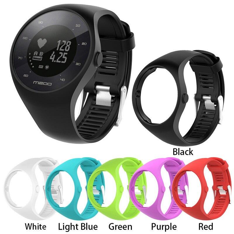 Nuevo 22 cm colorido de silicona de reemplazo de pulsera Polar M200 suave protectora funda para Polar m 200 reloj inteligente pulseras