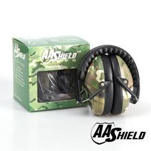 AA Shield Soundproofing Mini Ear Muff Shooting Hearing Protector Noise Reduction Tools 25.8DB Camo