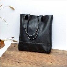 2017 neue tasche Schwarz frauenschulterbeutel Echtes leder handtasche tragen auf taschen