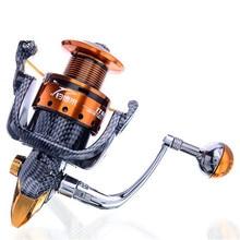 Nunatak  New Arrival Metal Spinning Fishing Reel Coil carretilha pesca 6000 Series 12+1BB 5.1:1 molinete pesca Wheel