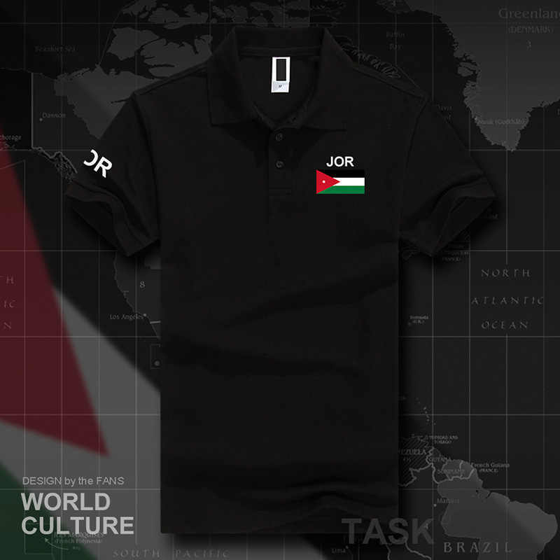 Jordan Jordanian polo shirts men short sleeve white brands printed for country 2017 cotton nation team flag new  JOR Arabic Arab