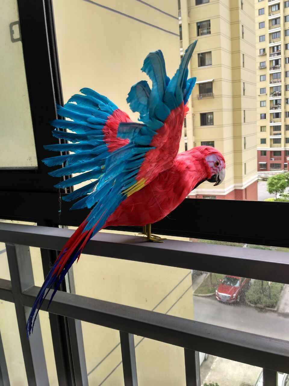 Большой Новый Моделирование крылья макет попугая полиэтилен и меха разноцветный попугай кукла подарок около 60x40 см 1111