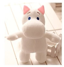 cute white creative hippo toy plush doll cartoon moomin hippo doll pillow birthday gift toy about 25cm