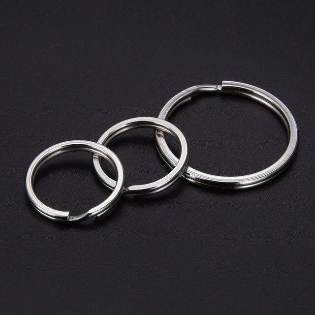 15bc555335 10pcs/set Shellhard Metal Key Holder Split Round Rings Fashion DIY Keyring  Keychain Jewelry Accessories 20/25/30mm
