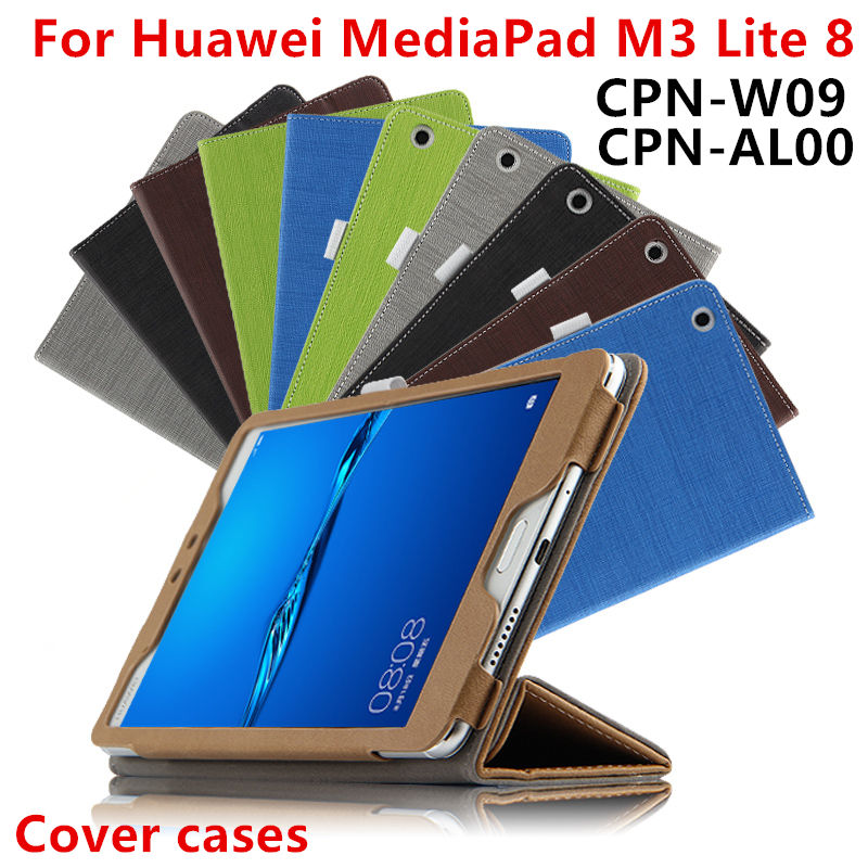 Case For Huawei Mediapad M3 lite 8 Smart Cover Protective PU Leather M3 Yonth Edition 8.0 inch CPN-W09 CPN-AL00 Tablet PC Cover triangle stand cover case for huawei mediapad m3 youth lite 8 cpn w09 cpn al00 8 free gifts