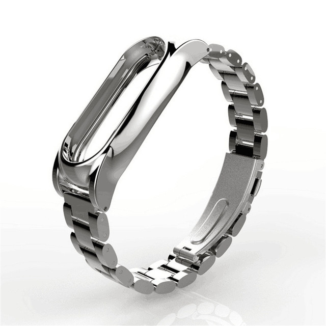 CARPRIE Luxury Wrist Strap For Xiaomi Mi Band 2 Magnet Stainless Steel Metal