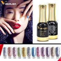 12pcs*12ml Venalisa Platinum Gel Nail Polish Nail Art Gel Polish Soak off UV LED Gel Varnish Starry Color Bling Nail Gel Lacquer