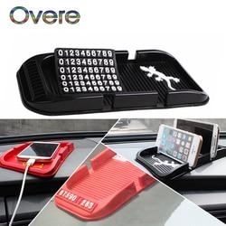 Zestaw 1 zestaw samochodów karta parkingowa Anti-slipmata stojak na telefon stylizacji dla BMW E60 E36 E46 E90 E39 E30 F30 F10 F20 X5 E53 E70 E87 E34
