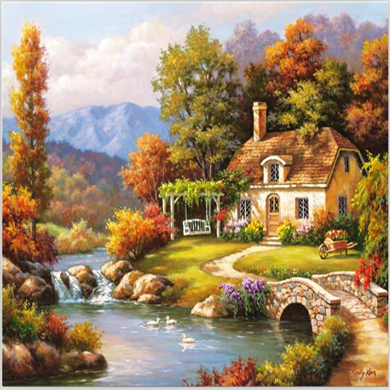 Online Buy Wholesale Beautiful House Painting From China