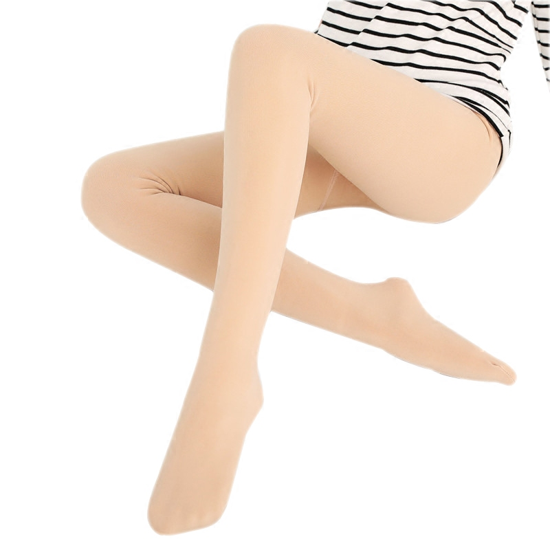 Leggins Leggings Women With Flesh-colored Underpants Wear Thin Skin Light Legs In Autumn And Winter Pile Thickening Long Johns