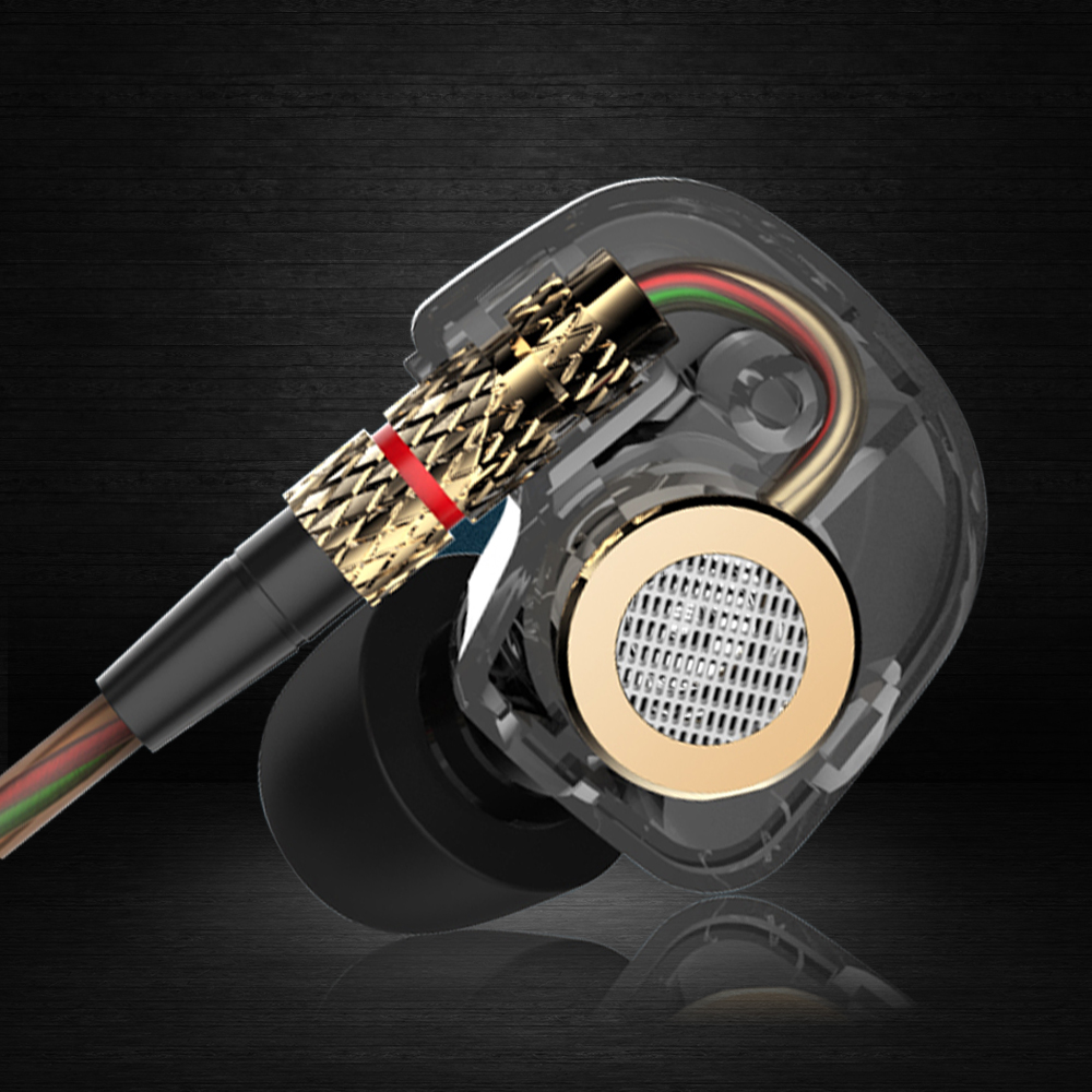 KZ ATE Copper Driver 3 5mm In Ear Earphone HIFI Metal Headphones Sport Headset For Running