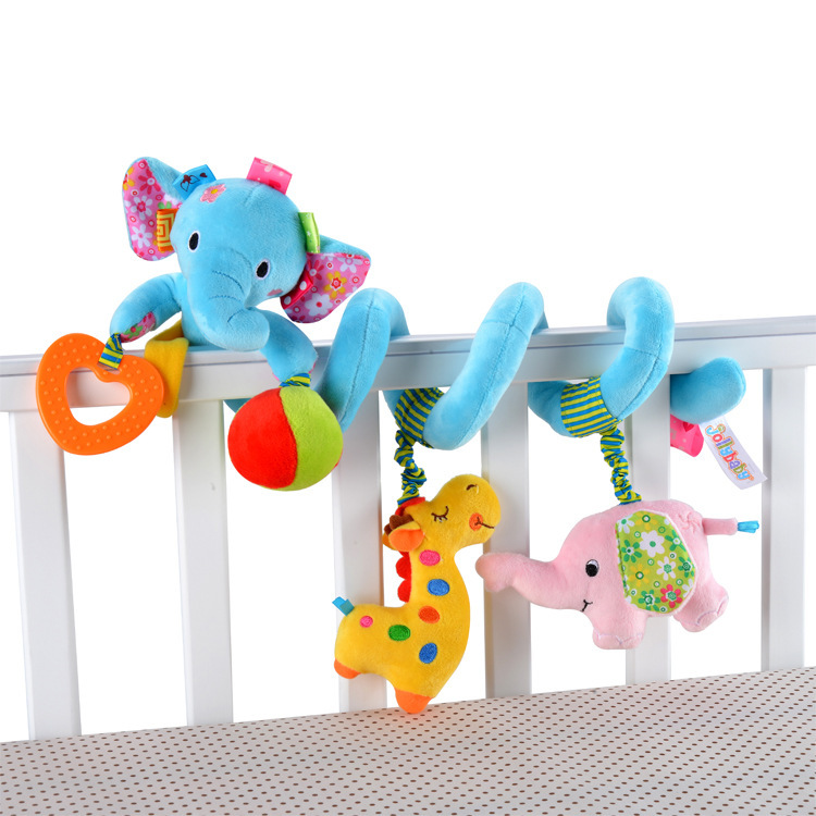 Newborn Baby Stroller Toys Lovely Elephant Lion Model Baby Bed Hanging Toys Educational Baby Rattle ToysNewborn Baby Stroller Toys Lovely Elephant Lion Model Baby Bed Hanging Toys Educational Baby Rattle Toys