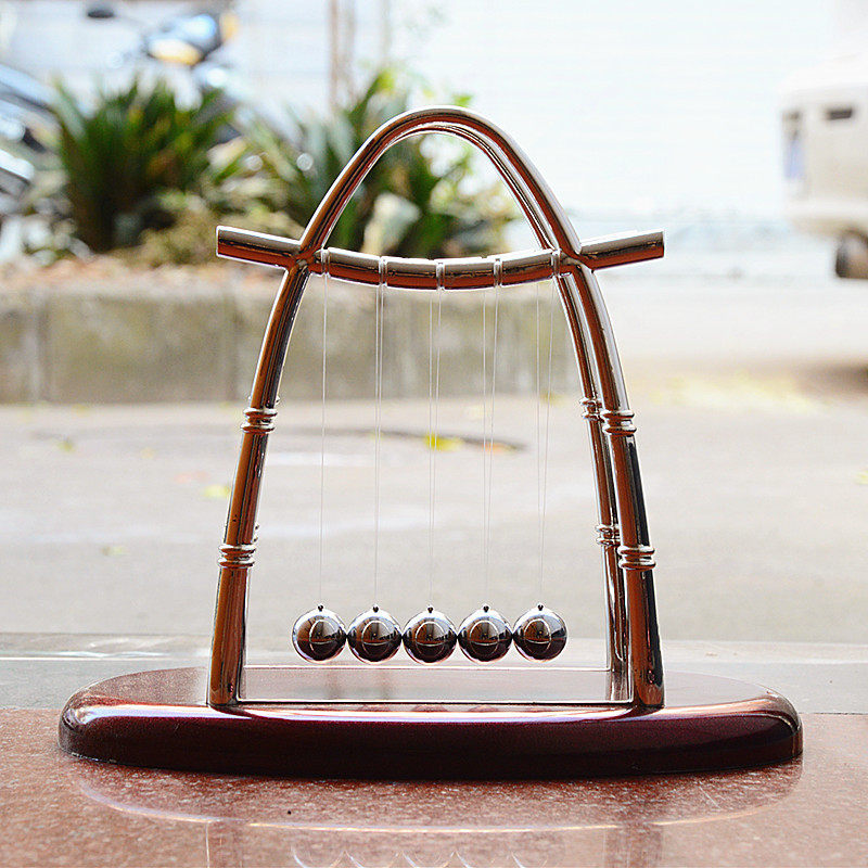 Newton cradle balance ball physics science pendulum oval for Home decor gifts