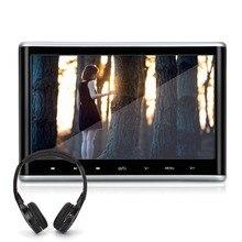 10.1 inch Digital TFT LCD Screen HD 1024*600 Car Headrest DVD Player Built in FM transmitter and IR audio Car Monitor+Headphone