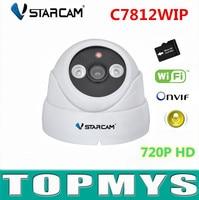 VStarcam IP Camera C7812WIP 720p Dome Cam Mini Wifi IP Camera ONVIF IR Cut 10m Plug