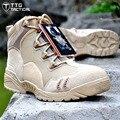 TTGTACTICAL Sapatos dos homens Ao Ar Livre Tático de Combate Do Exército Sapatos Deserto GOLPE Caminhadas Montanhismo Sapatos Preto/Desert