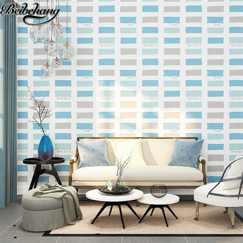 beibehang Non - woven wallpaper simple modern bedroom fashion three - dimensional wallpaper living room sofa TV wall paper beibehang modern minimalist style three dimensional geometric stripes non woven wallpaper shop for living room bedroom tv wall