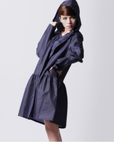 Japan Womens Thin Portable Tour Long Trench Raincoats Burber Ry Women White Dot Waterproof Clothes Dark