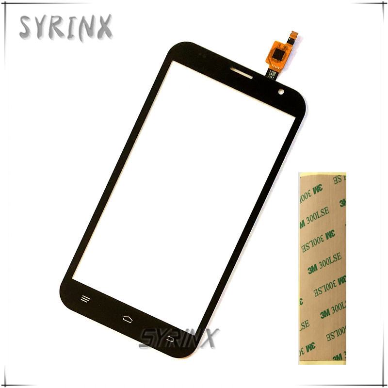 Syrinx WIth 3M Tape Touch Panel For Fly FS551 FS 551 Nimbus 4 Touch Screen Digitizer Front Glass Touchscreen Sensor Replacement