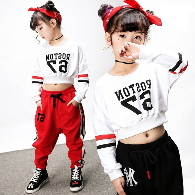 new fashion midriff baring pop jazz hiphop suit hip hop dancing
