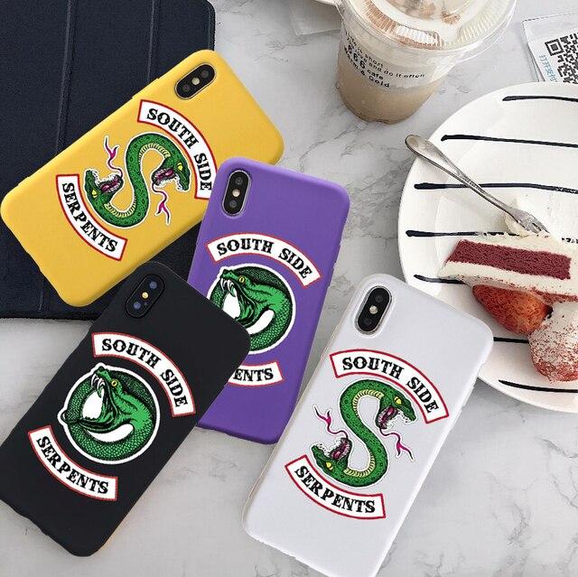 Американский ТВ ривердейл southside змеи Мягкий силиконовый чехол для телефона персонализированные Чехлы для iPhone X XS max 6 8 плюс 6s 7 plus