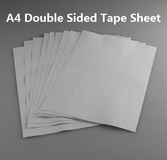A4 210*290mm Double Sided Adhesive Glue Sticky Tape Sheet For Paper Craft Card Making 2 To 30 Sheets kicute 20 sheets transparent a4 double sided adhesive sheet clear diy craft strong sticky tape paper office school supply