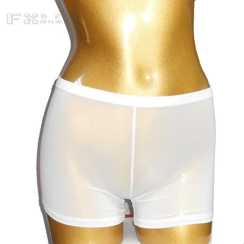 Sexy glace soie voir à travers le bas porter des Shorts sous-vêtements transparents érotique Lingerie Cheeky Undies culotte Boyshort FX7