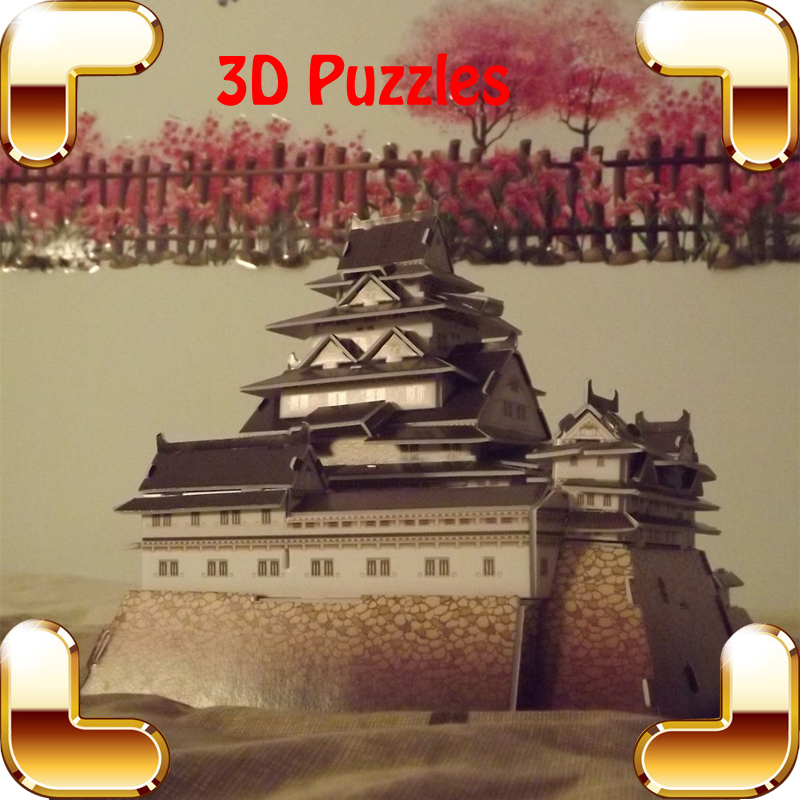 New Year Gift Himeji-Jo 3D Puzzles Model Japanese Ancient Castle Shogunate Building DIY Education Game Assemble Decoration Toys