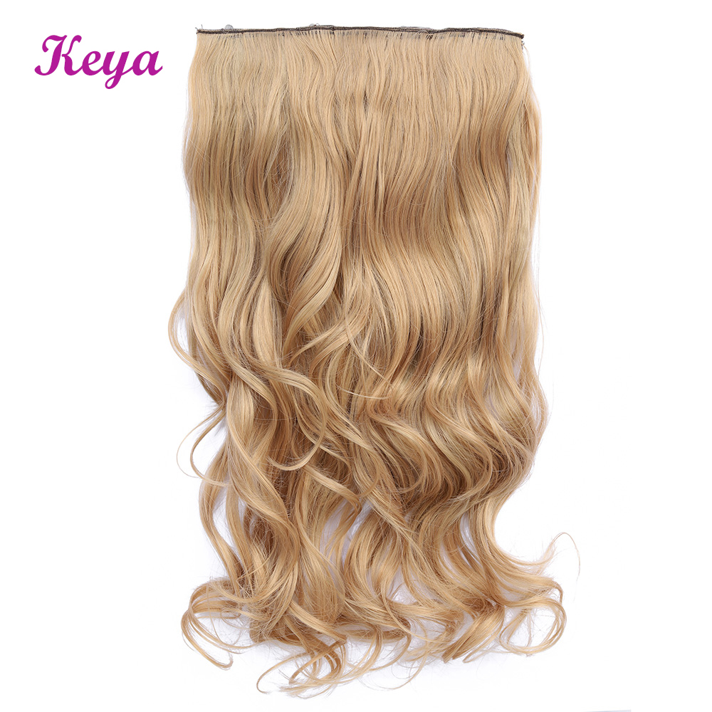 Wavy Clip in Hair Extensions 24 inch Natural Halo Hair Extensions 4 Clips in One Piece 190g Synthetic Hair Extensions(China)