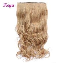 Волнистые накладные волосы 24 дюйма естественное наращивание волос Halo 4 клипсы в одной части 190 г синтетические волосы для наращивания