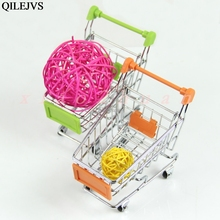 Mini Supermarket Shopping Handcart Practical Pushcart Trolley Drop shipping