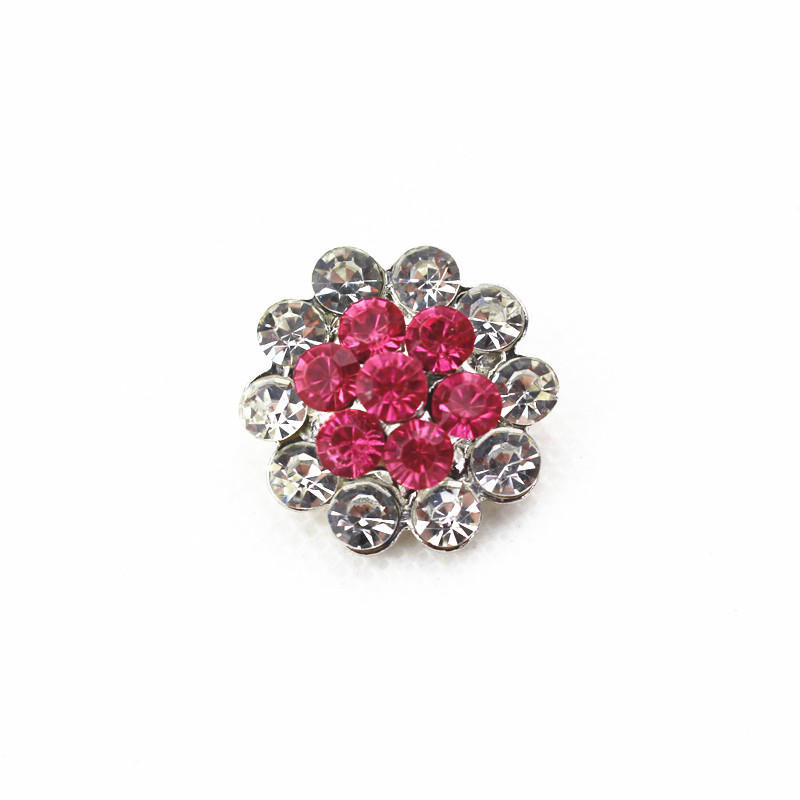 Hot selling 18mm metal snap button rhinestones flower charms for snap button bracelet jewelry