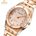 New Fashion Women Wrist Watch Top Brand KINGSKY Rose Gold Strap Luxury Design Quartz Watches Lady Dress Clock Relogio Feminino